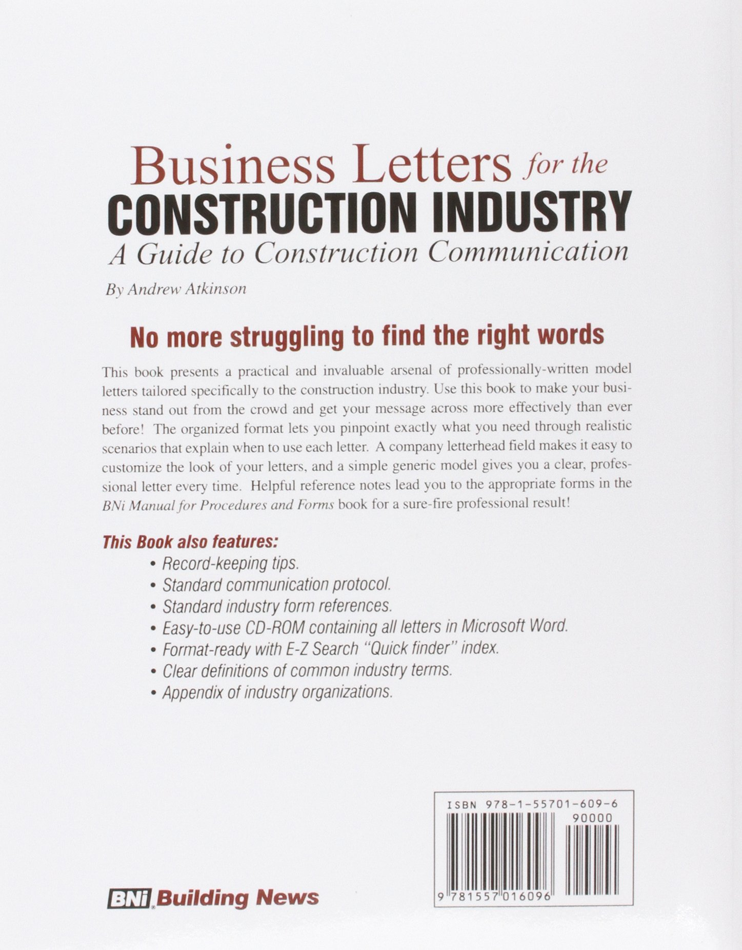 Business Letters For The Construction Industry A Guide To