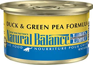 Natural Balance L.I.D. Limited Ingredient Diets Wet Cat Food, 24 Cans