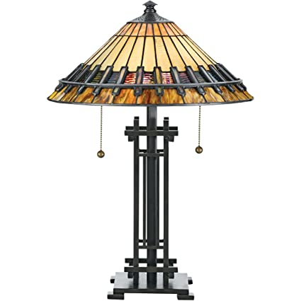 Quoizel TF489T 2 Light Tiffany Table Lamp