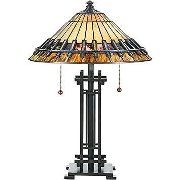 Quoizel Tf489t 2 Light Tiffany Table Lamp Amazon Com