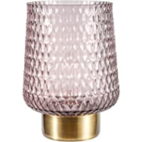 Pauleen 48135 Sprkling Glamour mobiele tafellamp Timer batterij grijs glas/metaal, bruin, messing