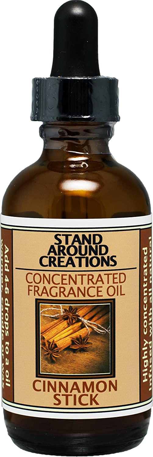 Stand Around Creations Concentrated Fragrance Oil - Cinnamon Stick: A Full Bodied Scent of Rich Spicy Cinnamon. Made w/Natural Essential Oils, Cinnamon, Clove, Cinnamon Bark.(2 fl.oz.)