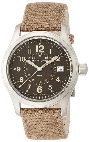 Hamilton Reloj Analogico para Hombre de Cuarzo con Correa en Tela H68201993: Amazon.es: Relojes