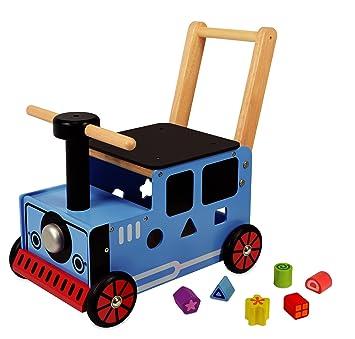 Carro de juego para empujar con diseño de tren