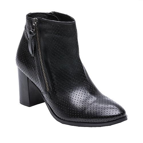 cb2d8e95 Zerimar Botines de Piel| Botines Piel Mujer | Botines Peep Toes Mujer |  Peep Toe Mujer: Amazon.es: Zapatos y complementos