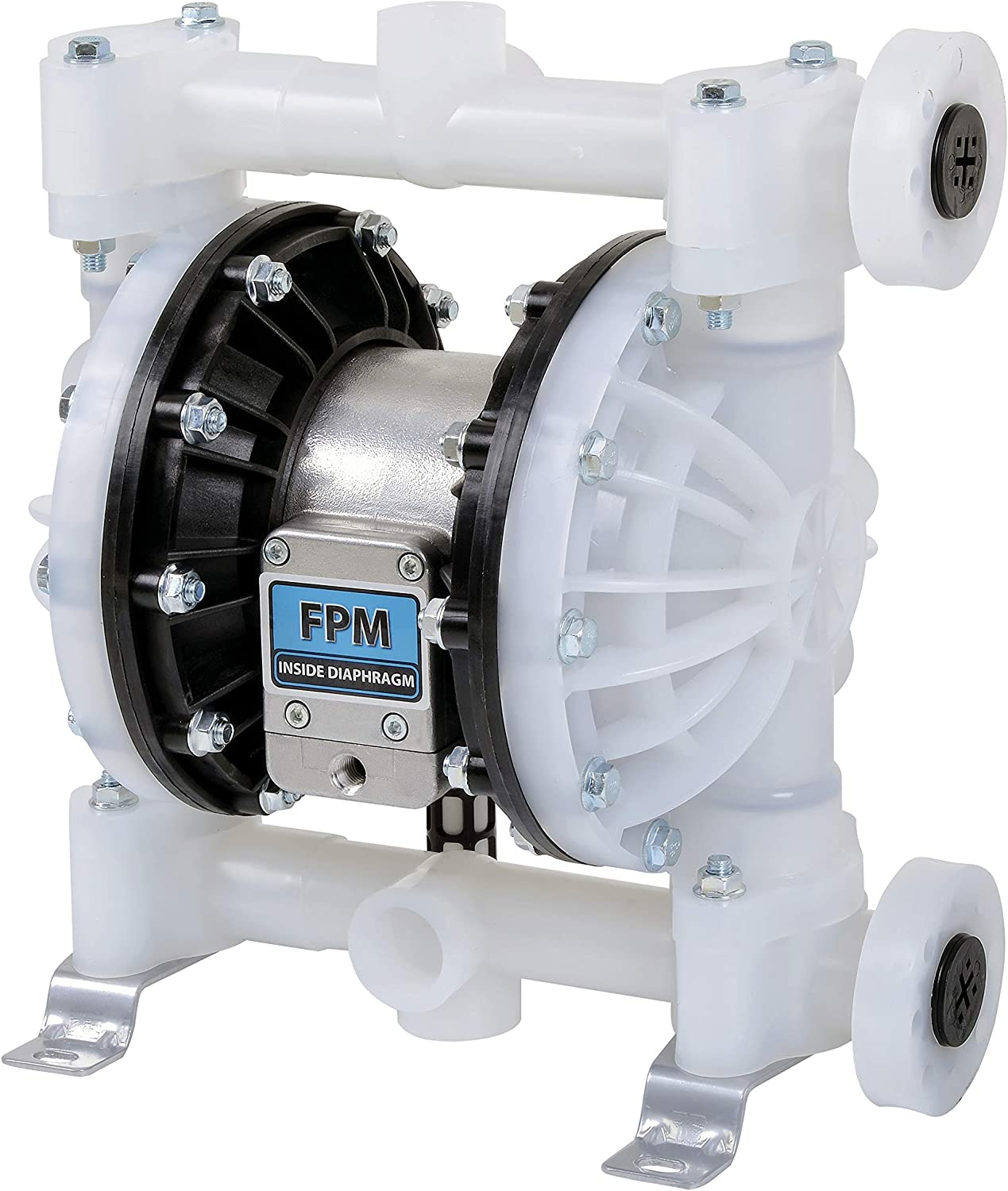 Fuelworks Double Diaphragm Transfer Pump Air Operated Pneumatic 1 Inch Fpm Fkm 24gpm 90lpm For Bio Diesel Windscreen And Similar Chemicals Home Improvement