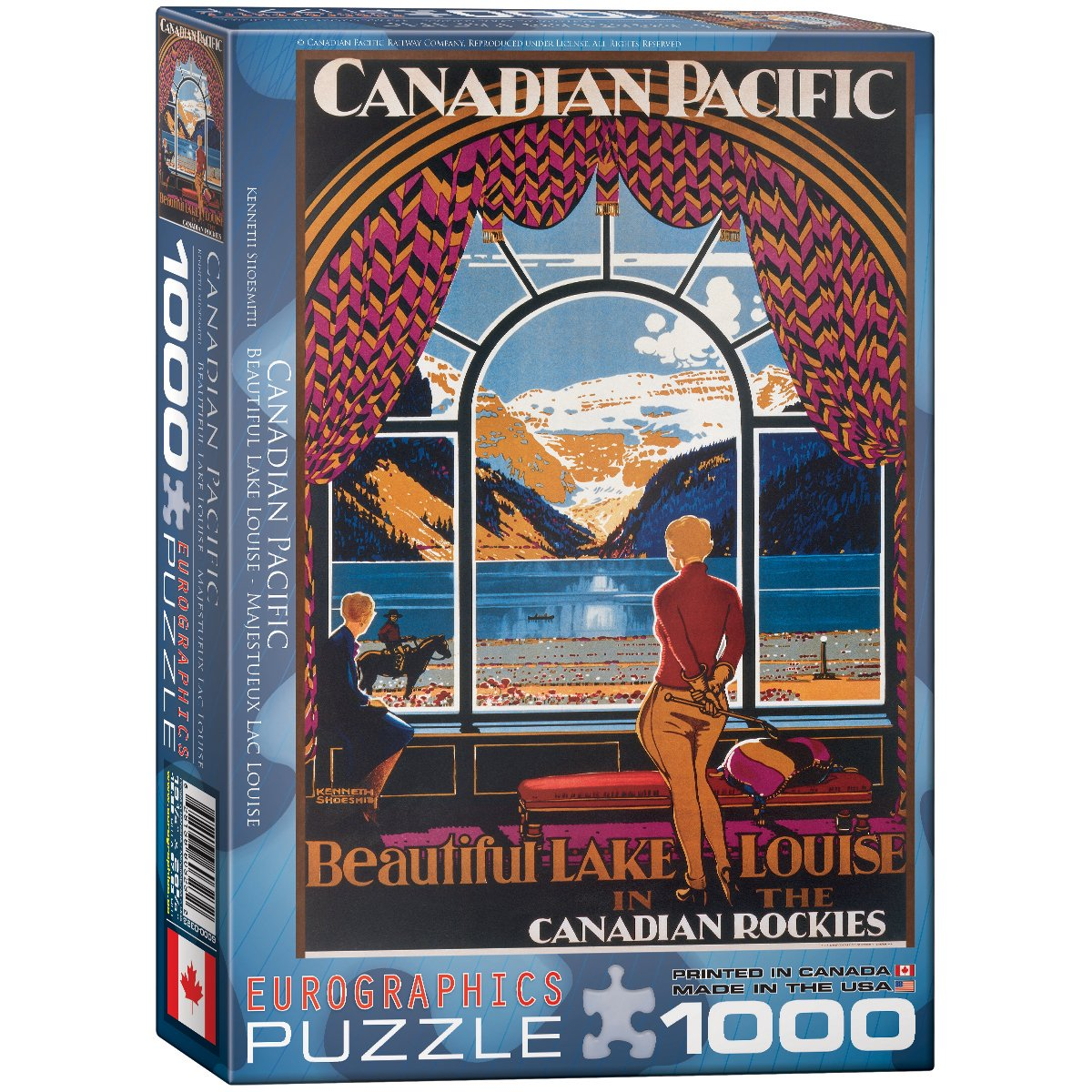 Eurographics Beautiful Lake Louise by Kenneth Shoesmith Puzzle (1000 Pieces) 6000-0323