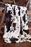 Faux Fur Cowhide Plush Throw Blanket