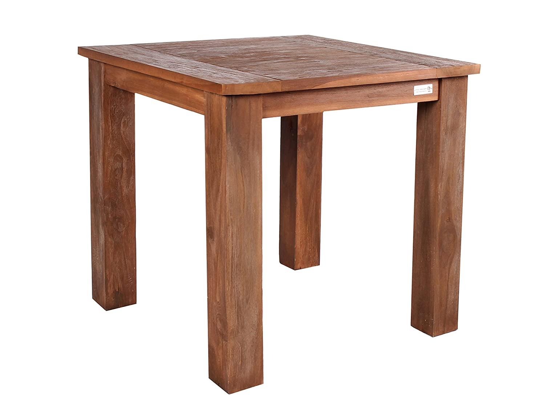 massiver teakholz esstisch 80 x 80 cm teaktisch k chentisch massivholz retro recycelt. Black Bedroom Furniture Sets. Home Design Ideas