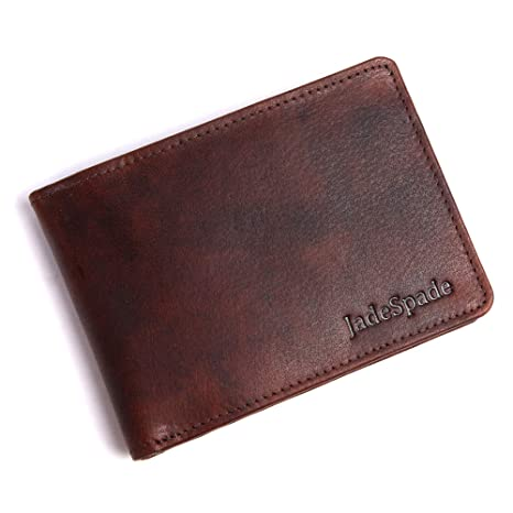 d31ef088bf22 Jade Spade Pegasus Slim Two Tone Oily Genuine Leather Wallet for Men(Chestnut  Brown)  Amazon.in  Bags