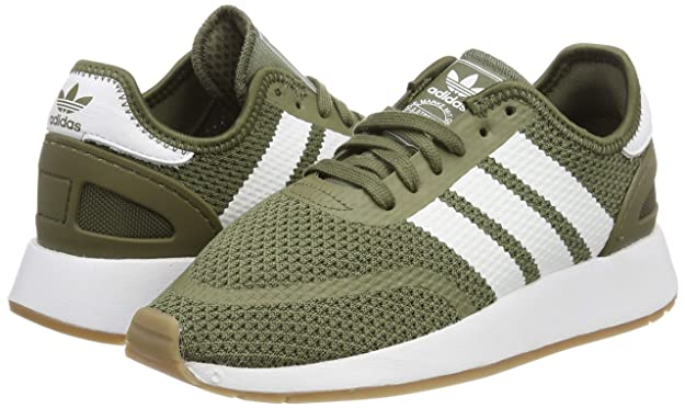 adidas Men's N 5923 Gymnastics Shoes, Green Raw KhakiFTWR WhiteGum4, 11.5 UK