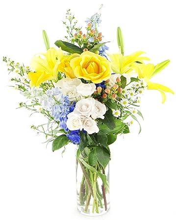 Amazon kabloom beautiful birthday bouquet of yellow roses kabloom beautiful birthday bouquet of yellow roses white spray roses yellow lilies accented mightylinksfo