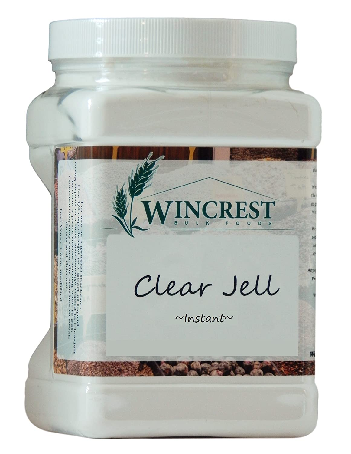 Clear Jel Canning Starch - Instant - 2.5 Lb Economy Size Container (40 Oz)