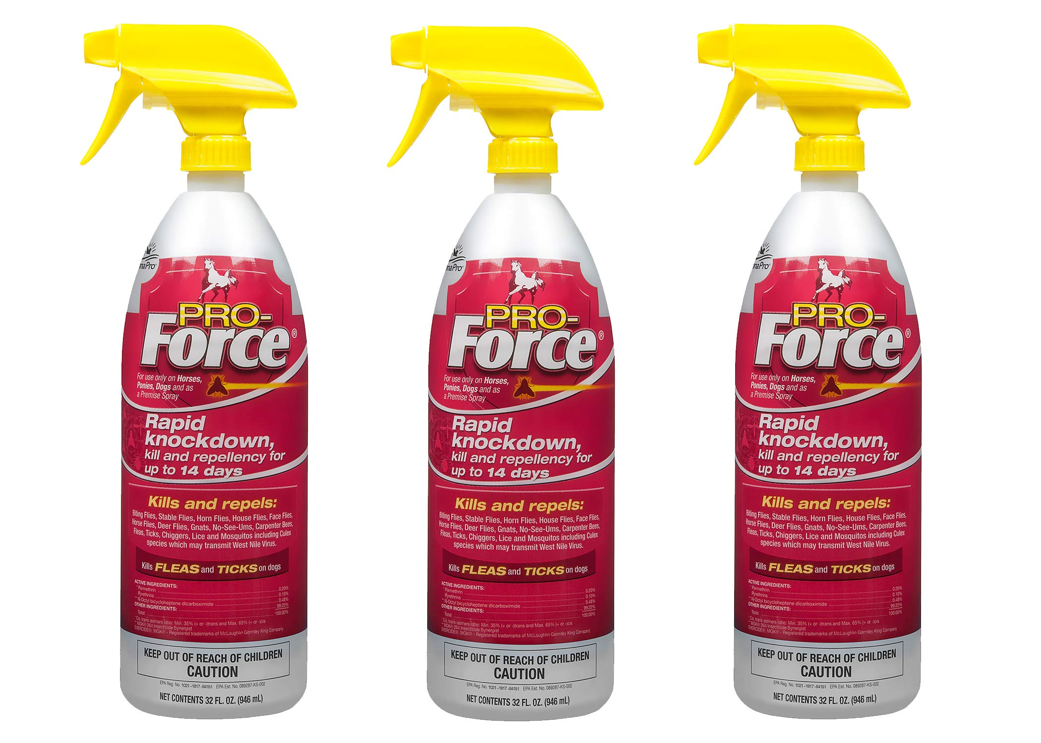 Manna Pro Pro-Force Fly Spray, 32 Ounces (Pack of 3)