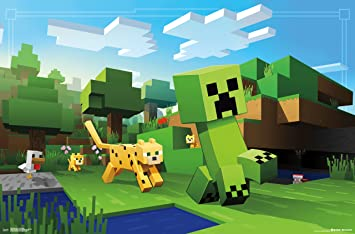 Trends International Minecraft Ocelot Chase Wall Poster 22375 X 34