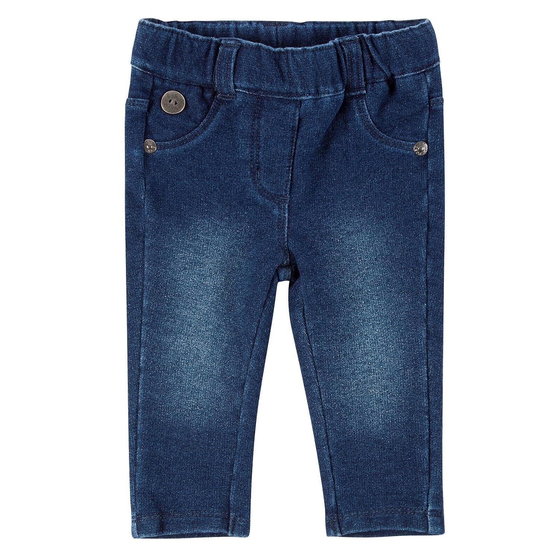 boboli 292058 - Pantalon Felpa Denim para Bebe - niñas color blue talla 12M