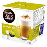 Nescafé Dolce Gusto Cappuccino, Pack of 3 (Total 48 Capsules, 24 Servings)