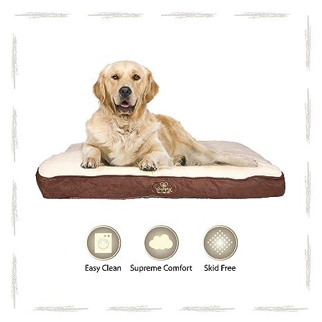 Yappy Roxy gama perro cama, X grandes tumbona, colchón con cojín, color marrón y ante y ...