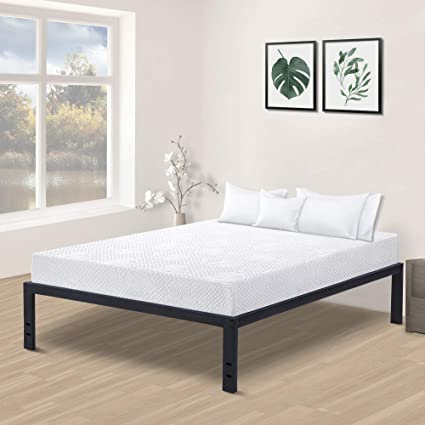 Amazon.com: Olee Sleep 14/18 Inch Tall Non Slip Steel Slat Bed