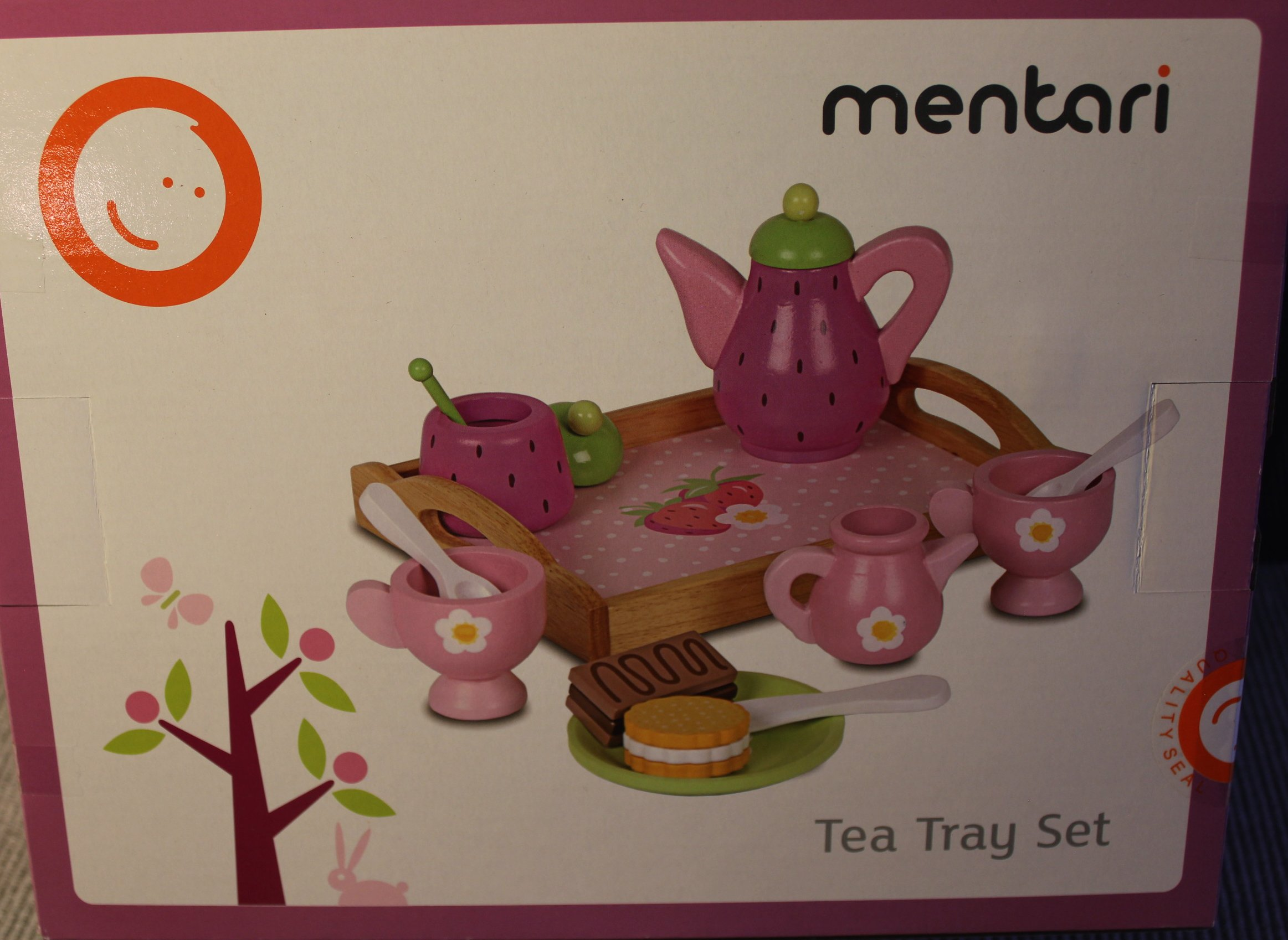SNR merchandise & informatics MT-3524 LLC Mentari Wooden Tea Tray Playset ( Made by Qualities Wood )