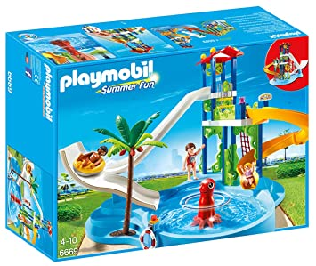 Playmobil 6669   Parc Aquatique Avec Toboggans Géants Images