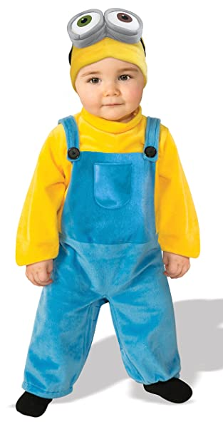Amazon Rubies Baby Boys Minions Bob Romper Costume Yellow 3 4 Years X Small Clothing