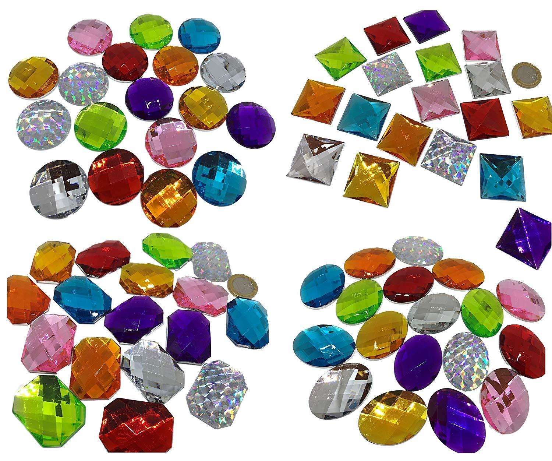 grosse pietre bastel stelbstklebend Glitzer di 4–3cm glitzernde colorate di pietra, o da Chi mosaico bekleben mattoni mattoni di strass acrilico trasparente cristallo chiaro insieme gltzer pietre Strass Pietre per verzieren di Crystal King