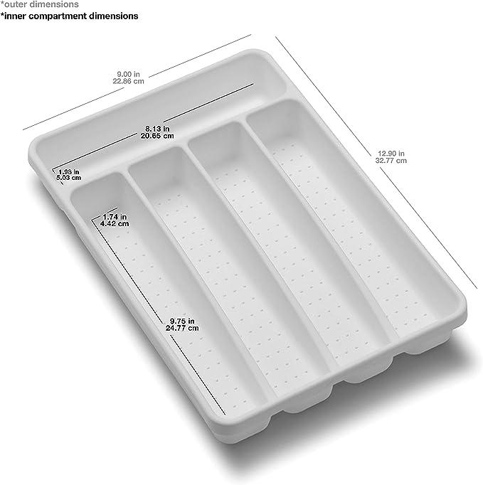 White Dial Industries B694W Small Mesh Cutlery Organizer Tray