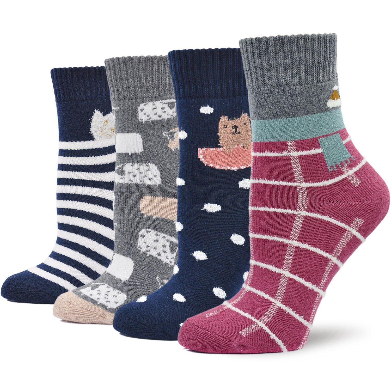 Calcetines Termicos Mujer Calcetines Invierno Coloridos, Mujer Calientes Calcetines de Algodon Gruesa, Mujer Calcetines