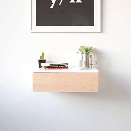 Floating Nightstand With Maple Drawer | Buoy | Wall Mounted Bedside Table  And Nightstand