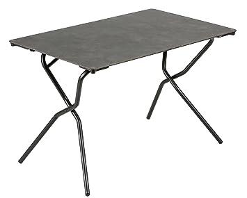 Lafuma Table de jardin rectangle, 110 x 68 cm, 4 places, Pliable,  Protection intempéries, Anytime, Couleur: Volcanic / Tube Noir, LFM2715-8232