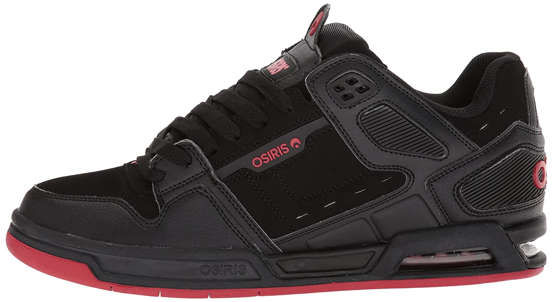 Zapato de skate Osiris para hombre con falda Negro   Rojo e58b54047ae
