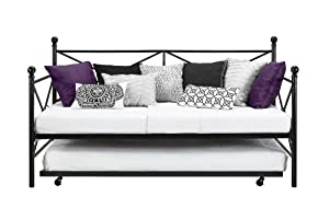 DHP Sturdy Modern Metal Daybed Roll Out Trundle