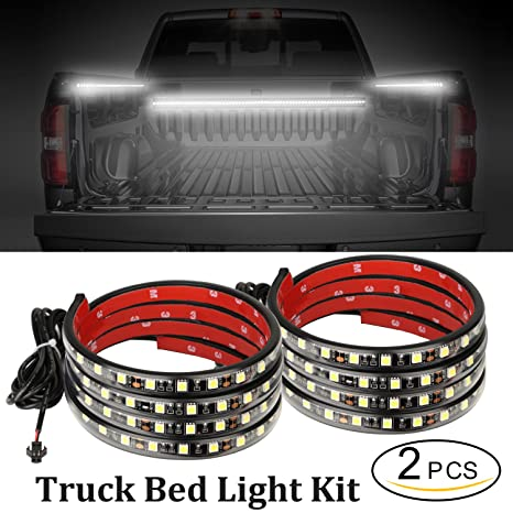 Amazon autuneer 60inch led truck bed lights 2pcs white truck autuneer 60inch led truck bed lights 2pcs white truck bed led strip light kit mozeypictures Gallery