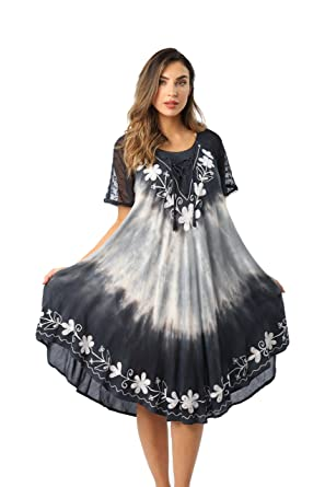 27042f499ef Riviera Sun Tie Dye Summer Dress with Raglan Eyelet Sleeve ...
