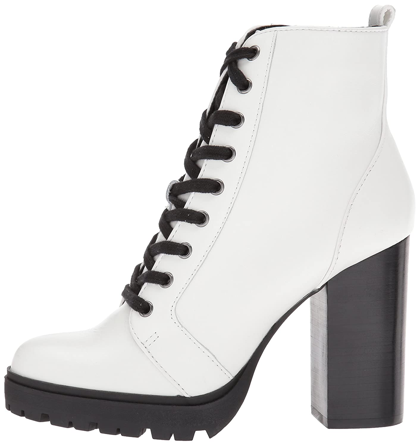 Steve Madden Women's Laurie B(M) Combat Boot B072J5SDGW 8 B(M) Laurie US|White Leather ca4bbe