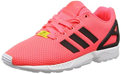 adidas ZX Flux, Sneakers Basses Mixte Enfant - Rouge - Rot (Flash Red S15