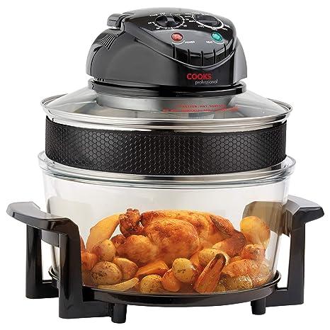 Cooks Professional Freidora eléctrica halógena con temporizador y accesorios, 1400W 17L de Cooks Professional