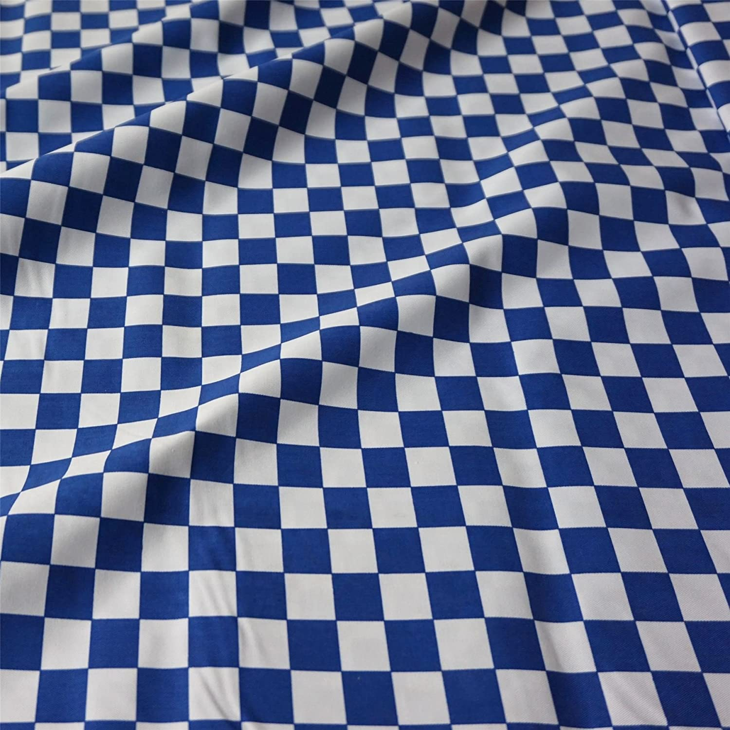 "Per Metre Navy Blue 100/% Poplin Cotton Fabric With 1//4/"" Polka Dot Spot"