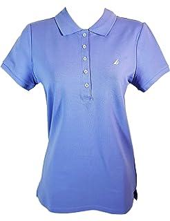 2ec6d6e96 Nautica Women Split-Neck Polo Shirt at Amazon Women's Clothing store: