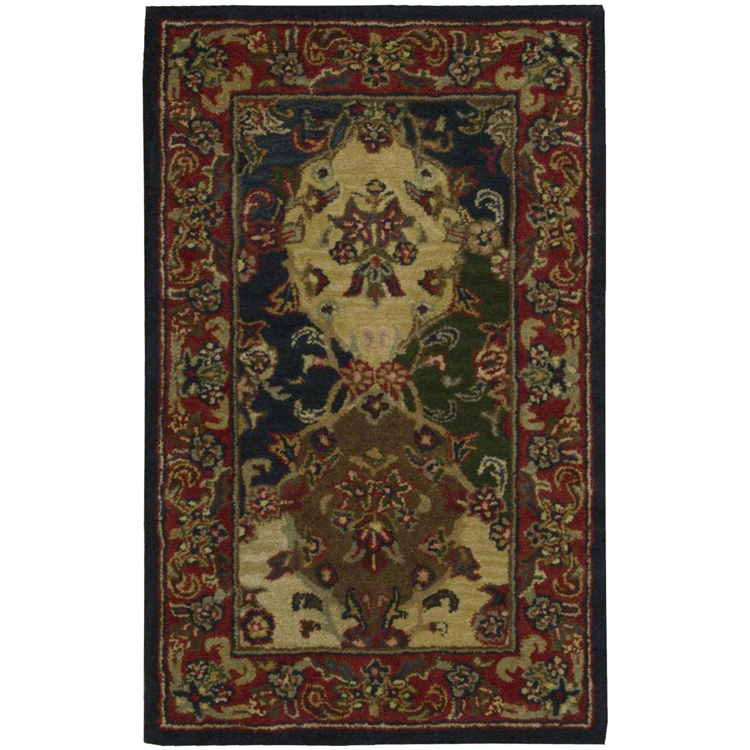 Nourison India House (IH23) Multicolor Set Area Rug, 7-Feet 3-Inches by 9-Feet 3-Inches (7'3'' x 9'3'')