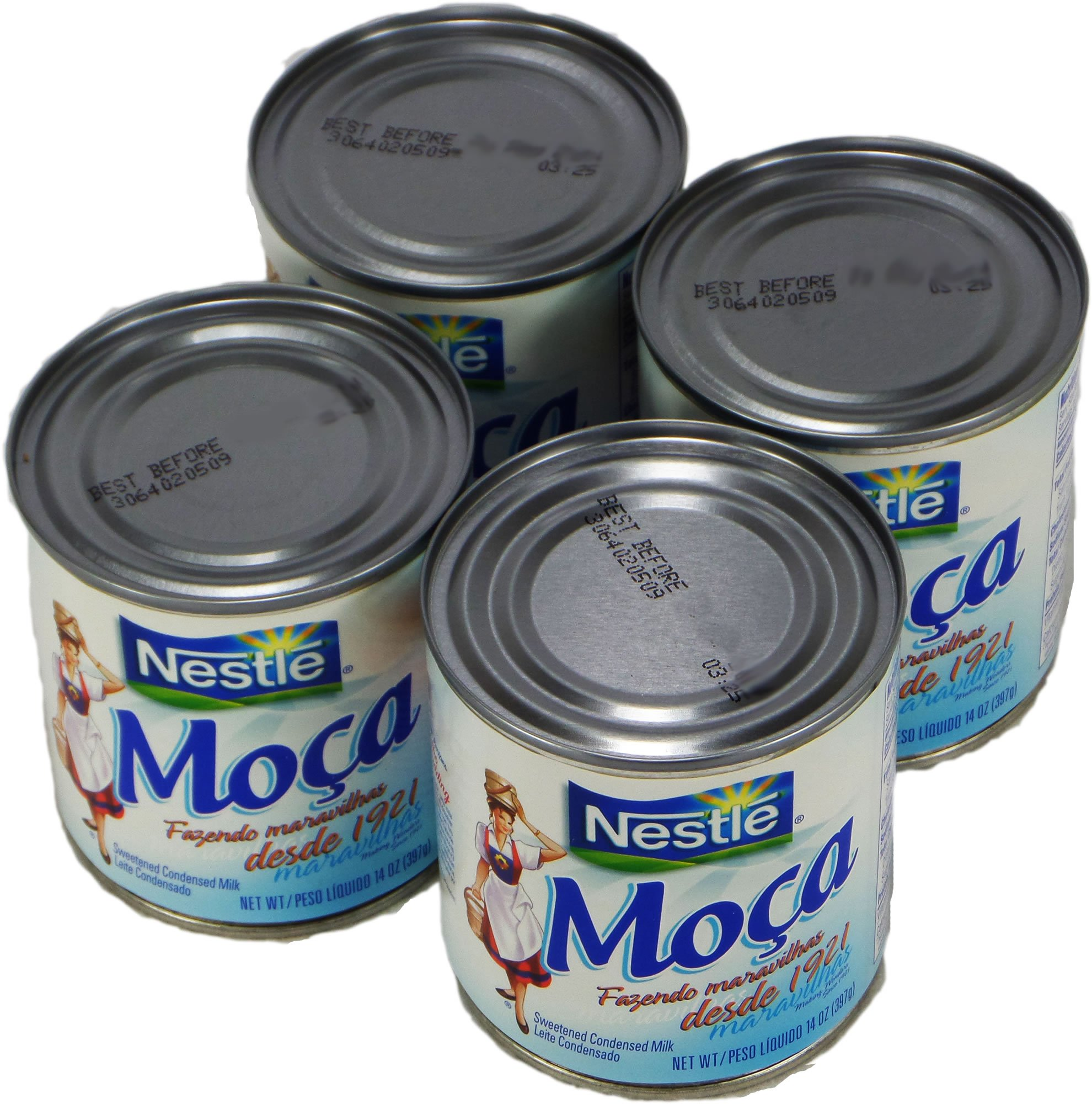 Nestlé Moça Leite Condensado 397g | Sweetened Condensed Milk 14oz. (Pack of 04)