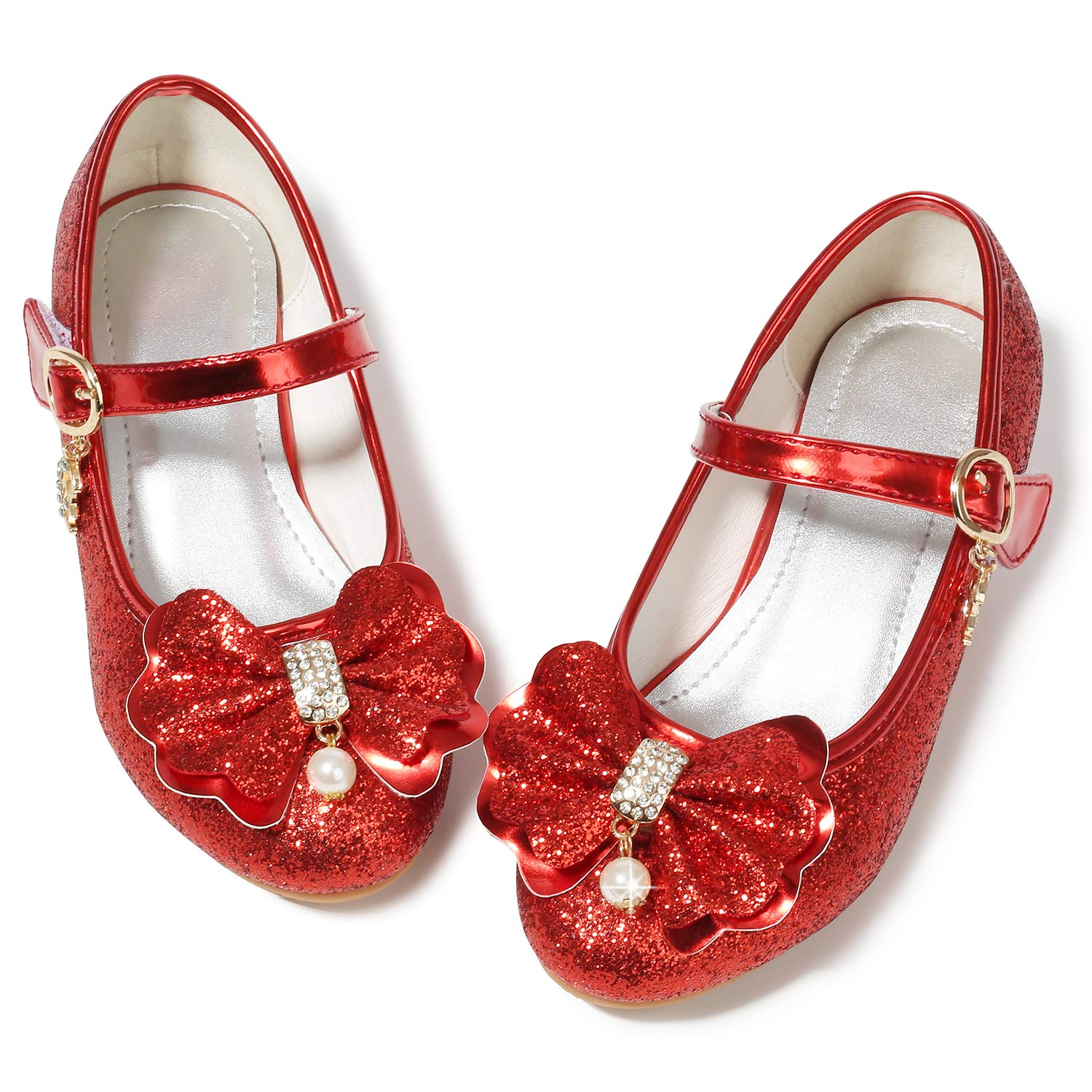 the cheapest so cheap latest fashion Toddler Girl Princess Shoes for Girls Size 10 Wedding Flower Girl Party  Shoes Medium High Heels Glitter Little Girls Red Dress Bridesmaid Mary Jane  ...