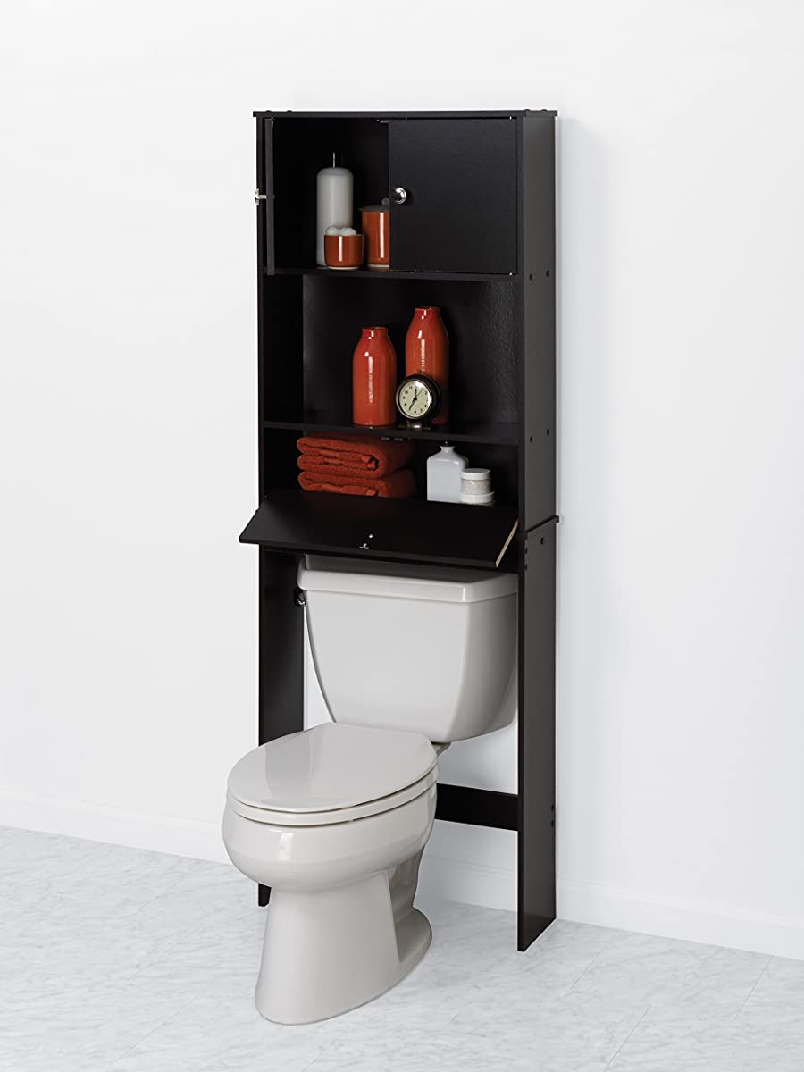 Zenna Home 9401CH, Drop Door Bathroom Spacesaver, Espresso