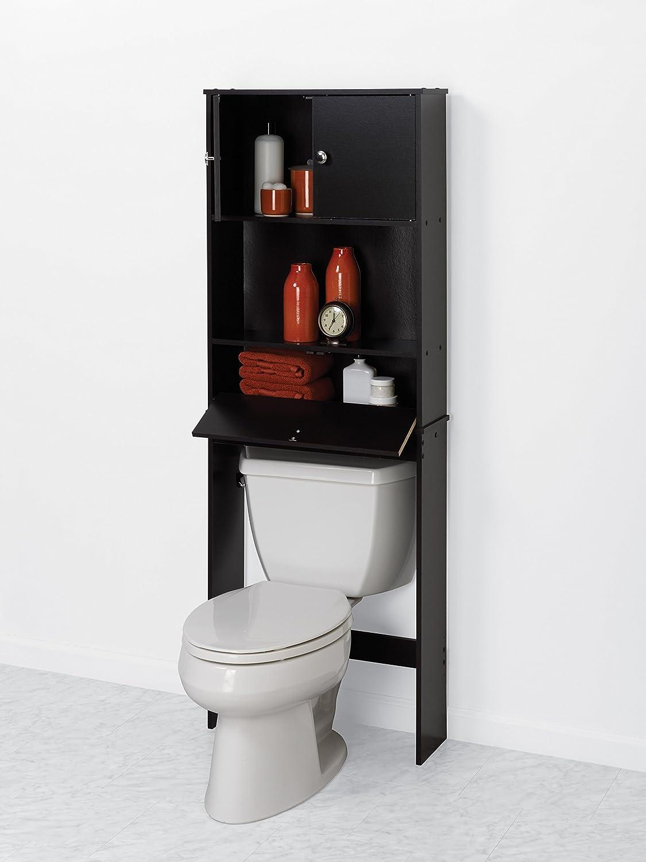 amazoncom zenna home 9401ch drop door bathroom spacesaver espresso home kitchen