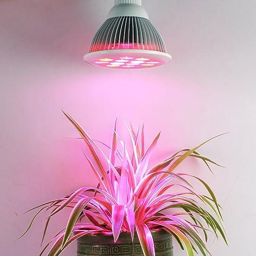 11 opinioni per Roleadro Led Grow light E27 12W Led Coltivazione Garden Plant Lampada per Serra