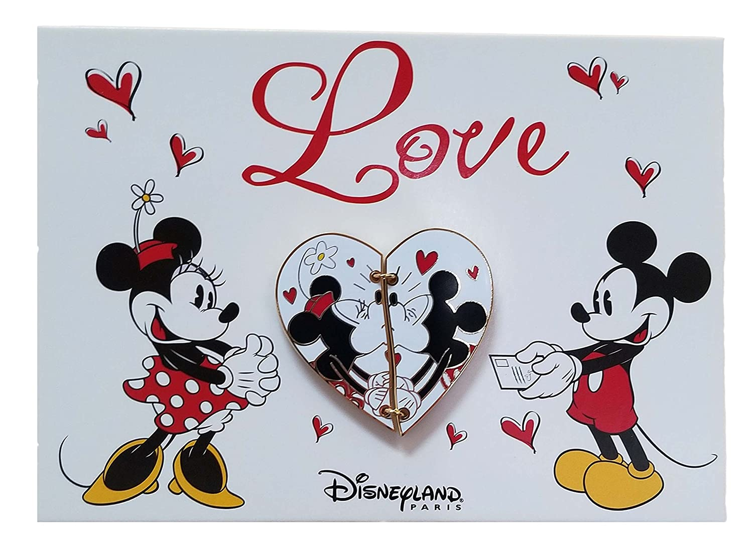 Disneyland Paris Pin - Valentine 2018 - Love Postcard - Minnie and Mickey