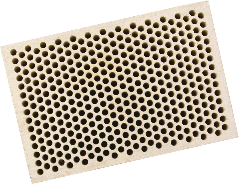 2 x 3 x 1//2 Jewelry Soldering Tool 2 mm Diameter Honeycomb Ceramic Block Square w// 374 Holes