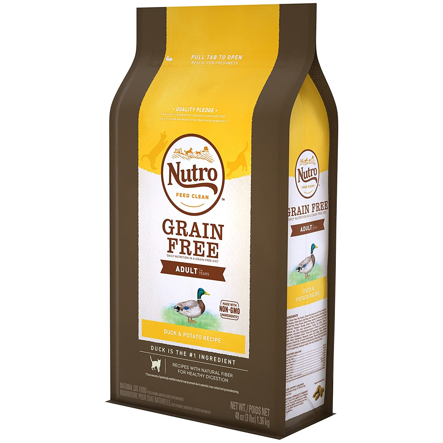 Amazon.com : Nutro Grain-Free Duck & Potato Recipe Adult Dry Cat Food 3 Pounds : Pet Supplies
