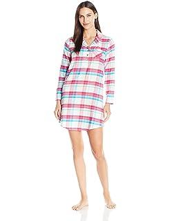 Jockey Women s Flannel Plaid Sleepshirt at Amazon Women s Clothing ... 28343a6ae